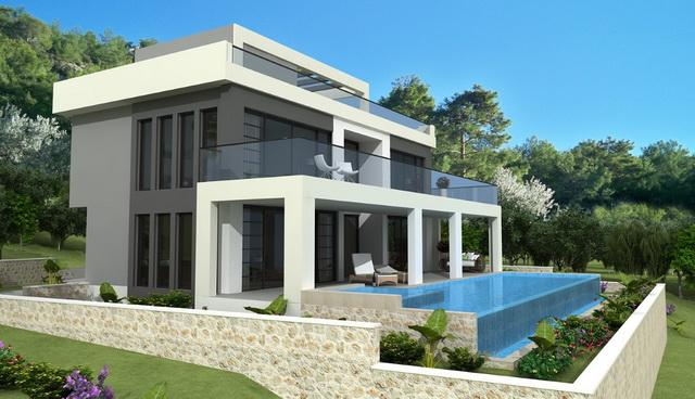 וילה יוקרתית עתידית מדהימה, עם 4 חדרי שינה, נוף פתוח לים ובריכת שחייה פרטית