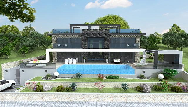 וילה יוקרתית עם 5 חדרי שינה, נוף מדהים לים ובריכה פרטית